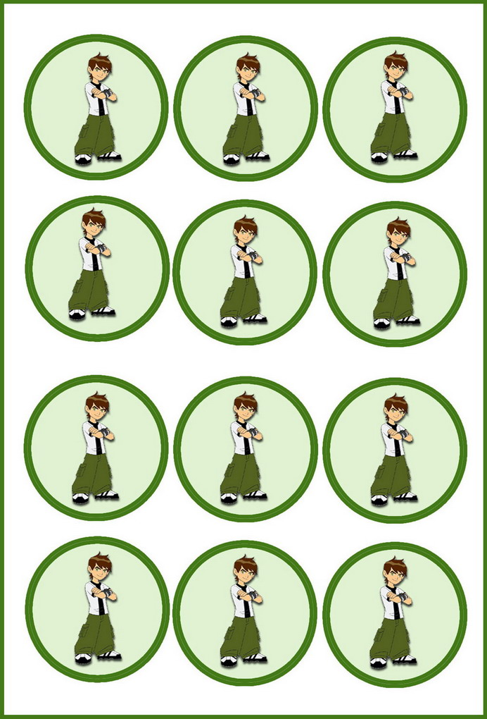 Ben10 Cupcake Toppers2 St