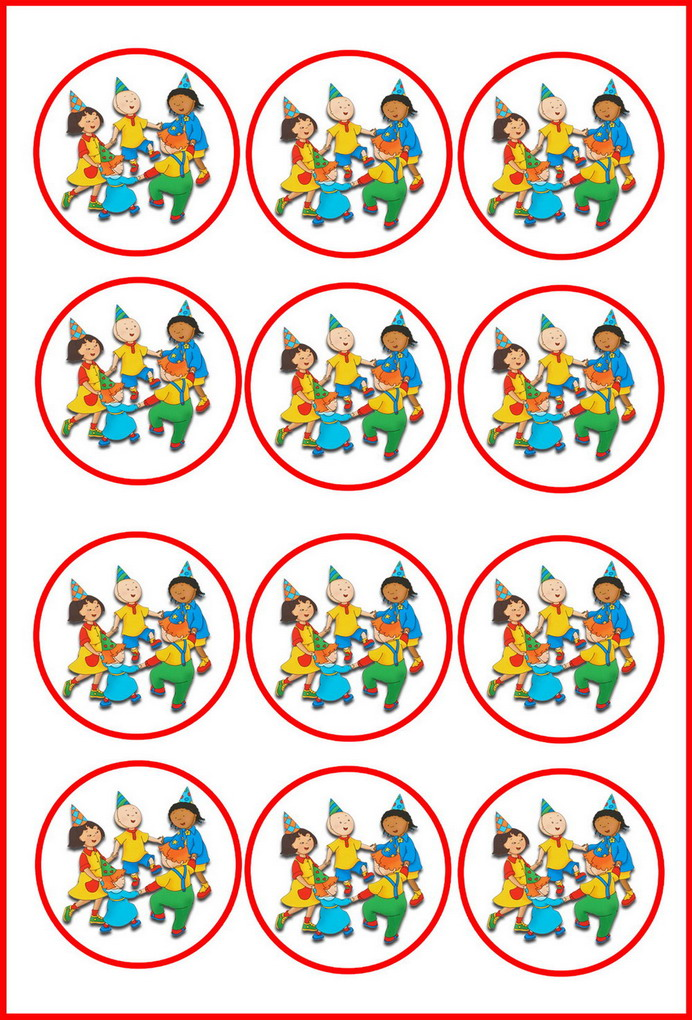 Caillou Cupcake Toppers Birthday Printable