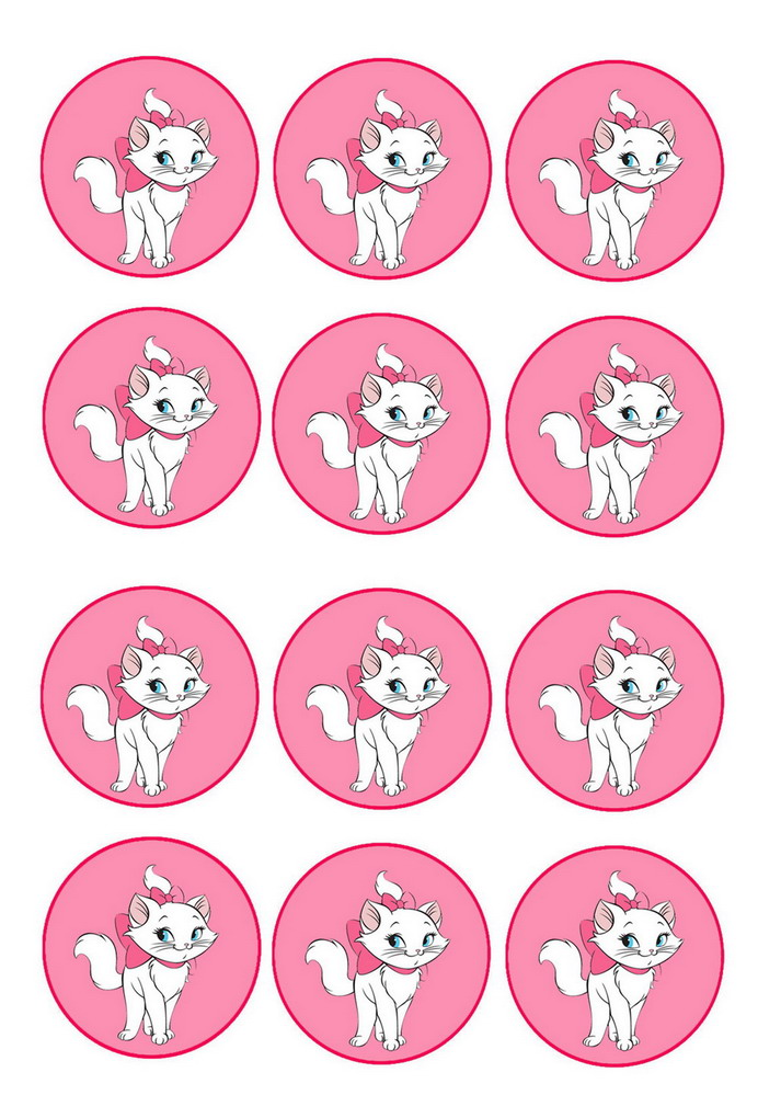 Cat Lovers Cupcake Toppers Birthday Printable