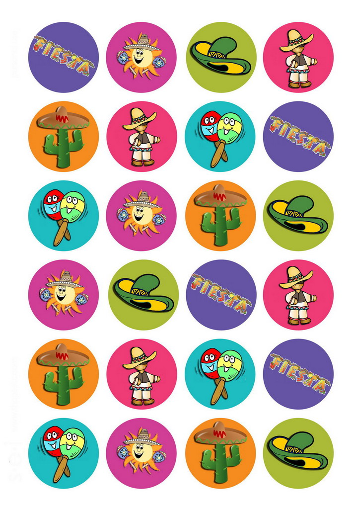 Fiesta Mexican – Cupcake Toppers | Birthday Printable