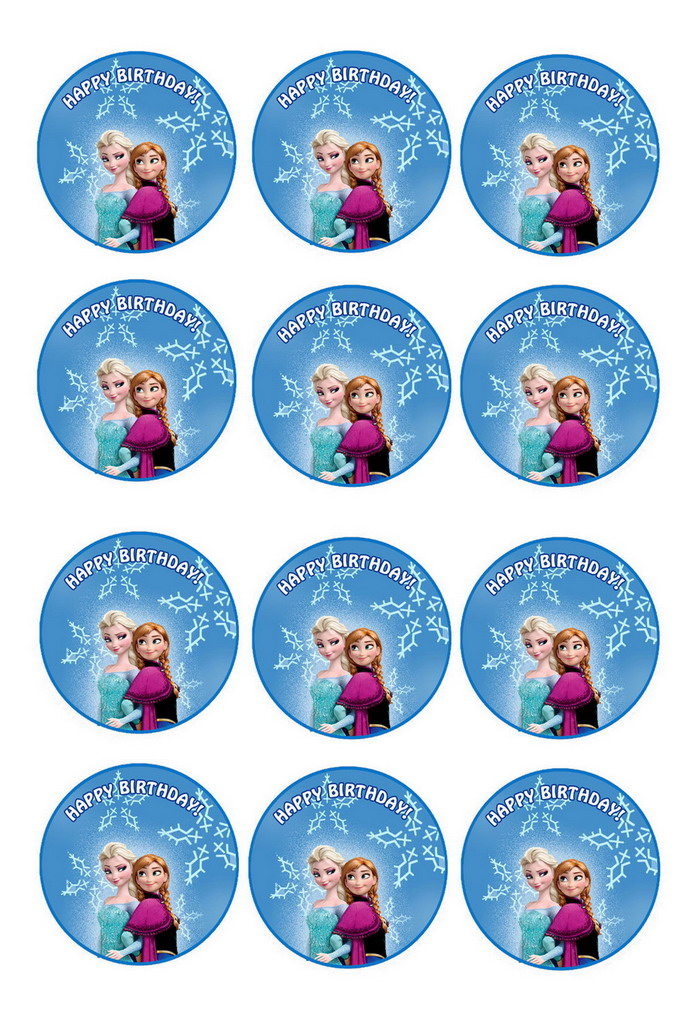 Frozen Cupcake Toppers Birthday
