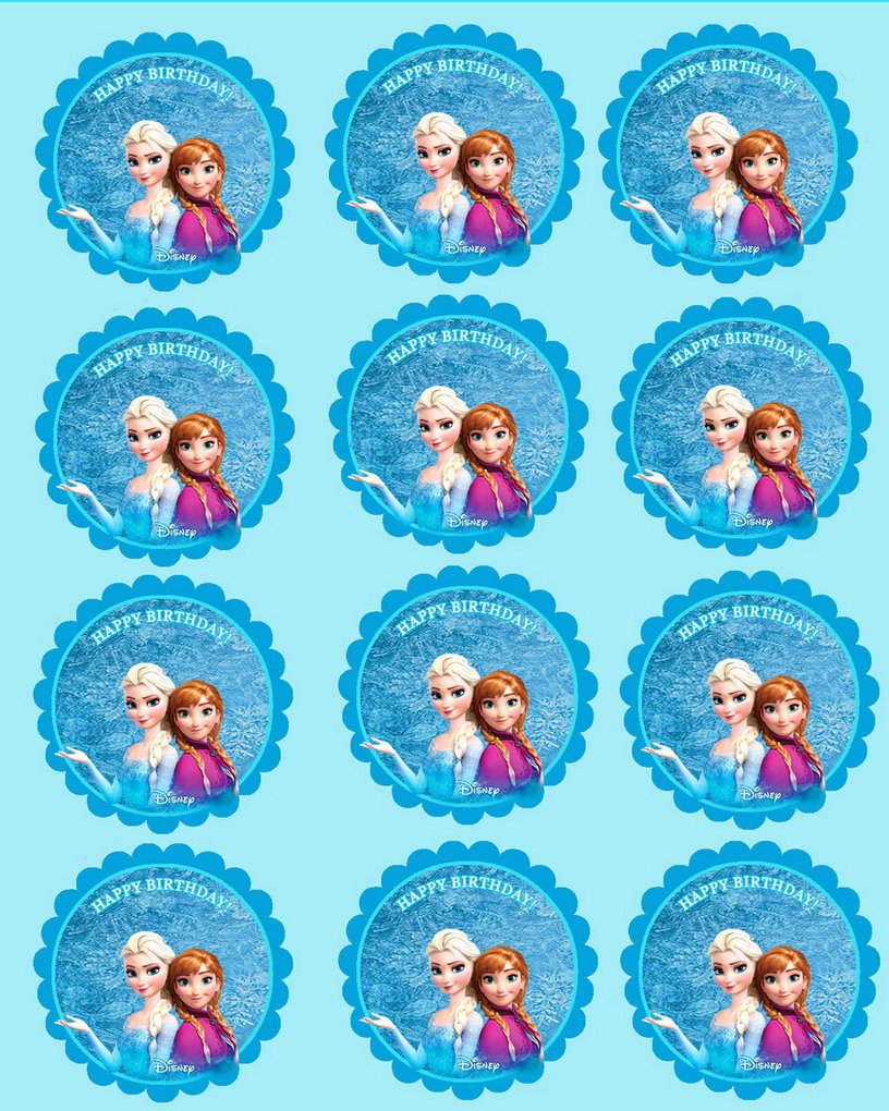 Frozen Cupcake Toppers Birthday Printable