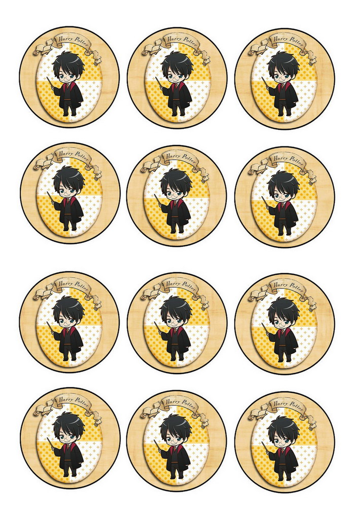 Harry Potter – Cupcake Toppers – Birthday Printable