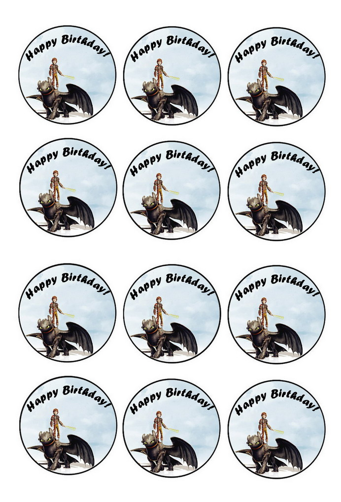 How to Train Your Dragon – Cupcake Toppers – Birthday ...