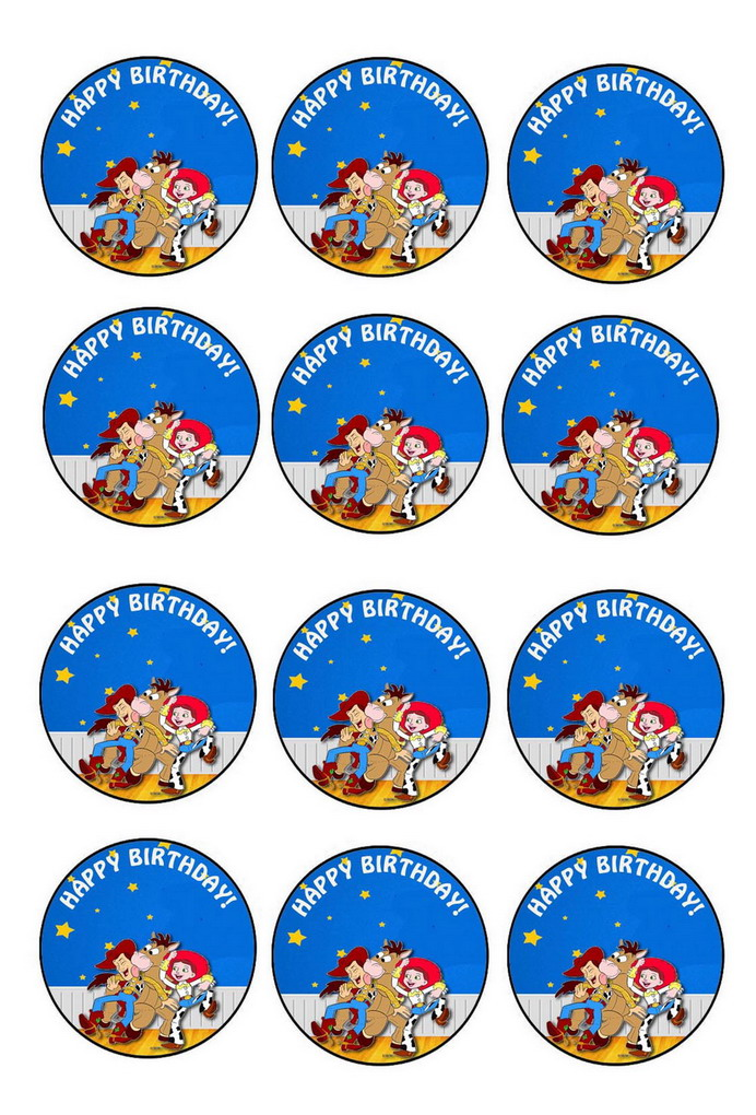 Toy Story Cupcake Toppers Birthday Printable
