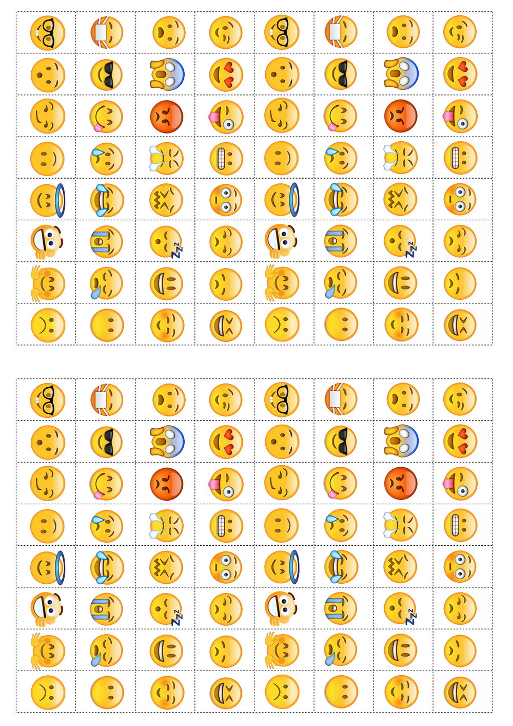 Emoji Stickers Birthday Printable
