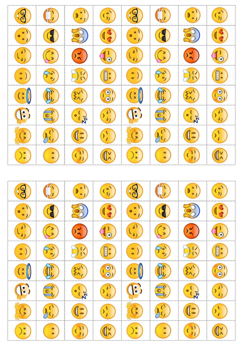 image about Large Printable Emojis known as Emoji Stickers Birthday Printable