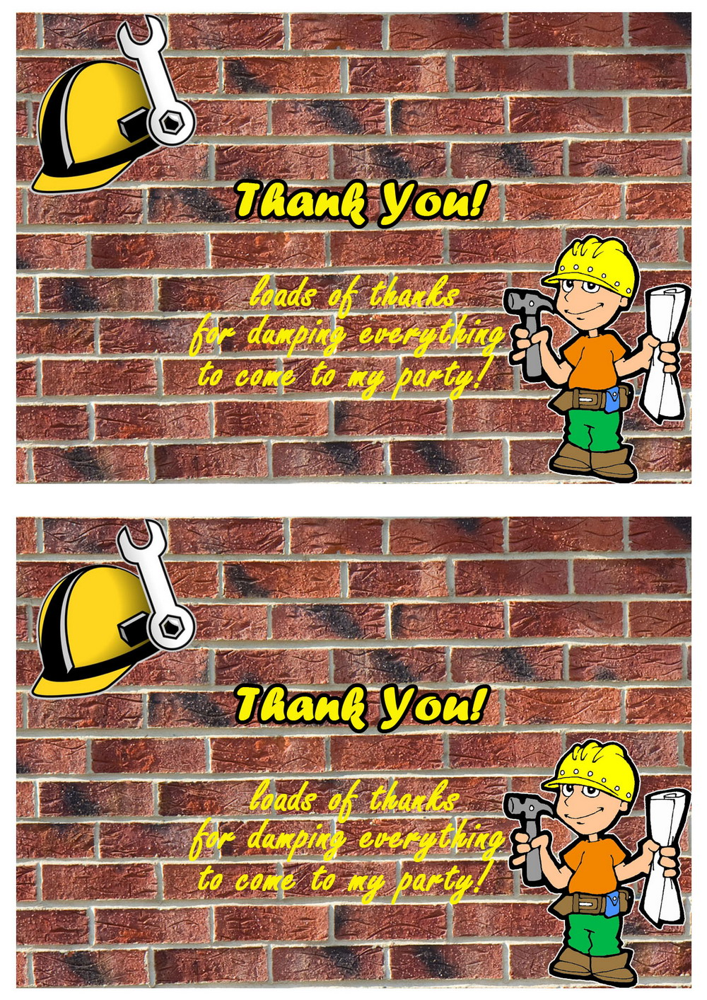 Click Image To Find More Men S Fashion: Construction Thank You Cards