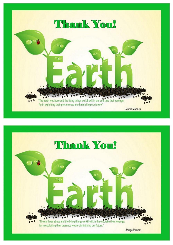 Eco Friendly Thank you Cards – Birthday Printable