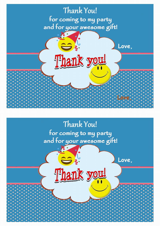 Surprising Emoji Thank You Cards Birthday Printable Personalised Birthday Cards Veneteletsinfo