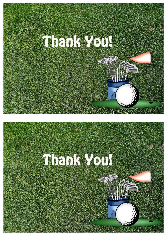 Golf Thank you Cards Birthday