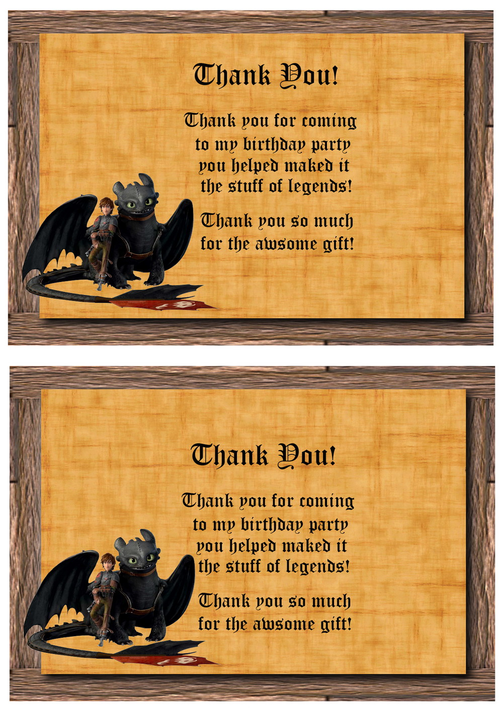 how to train thank you cards