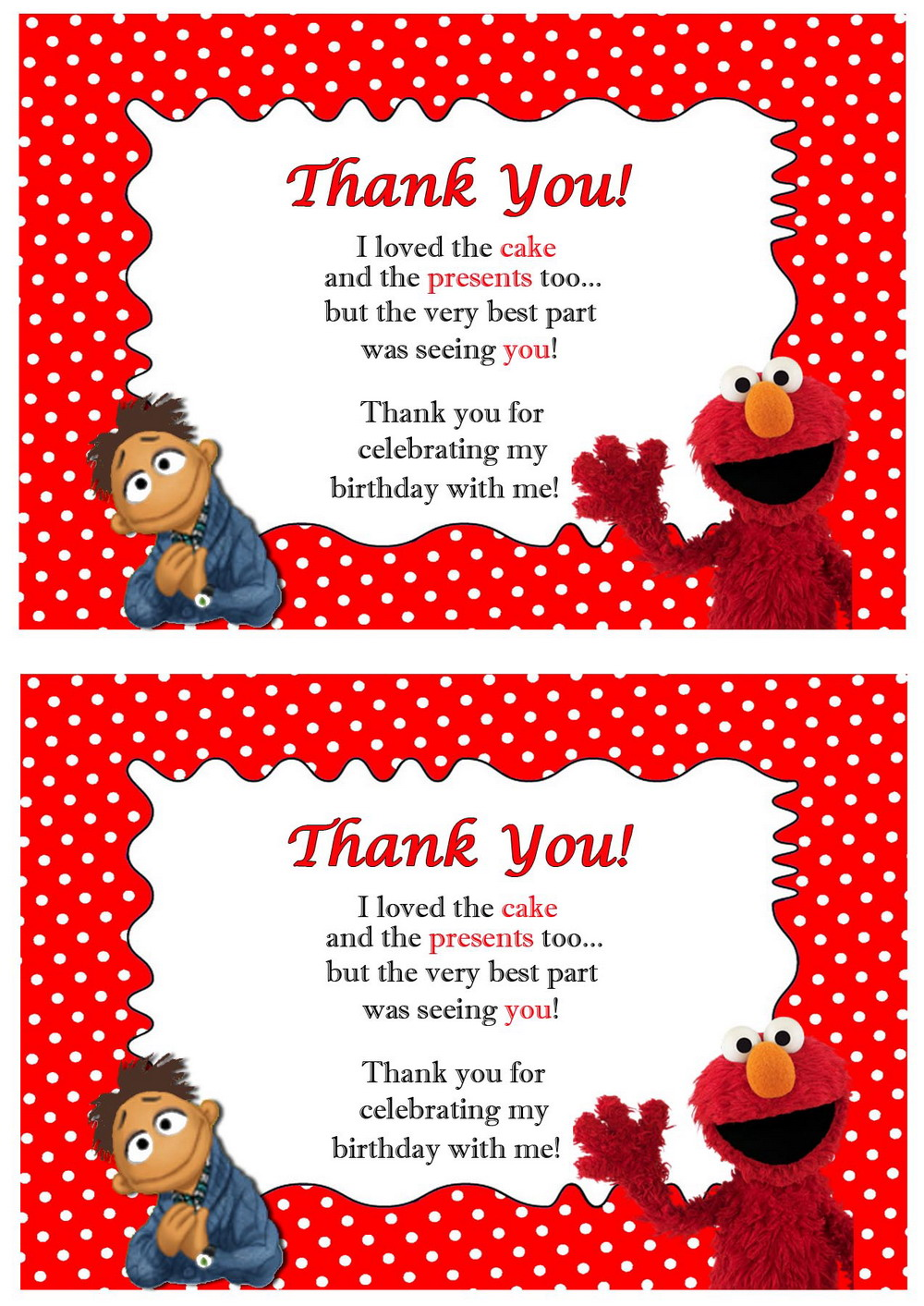 muppets thank you cards