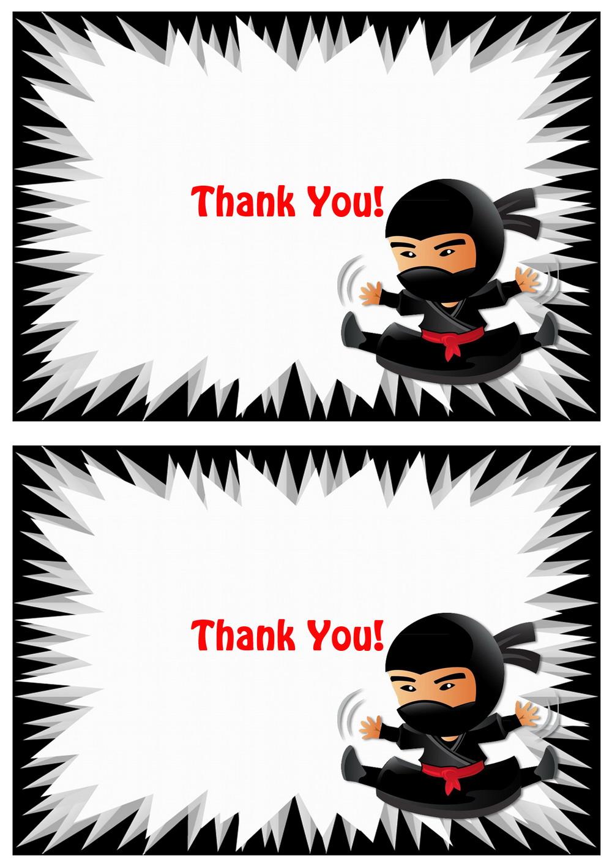 ninja thank you cards