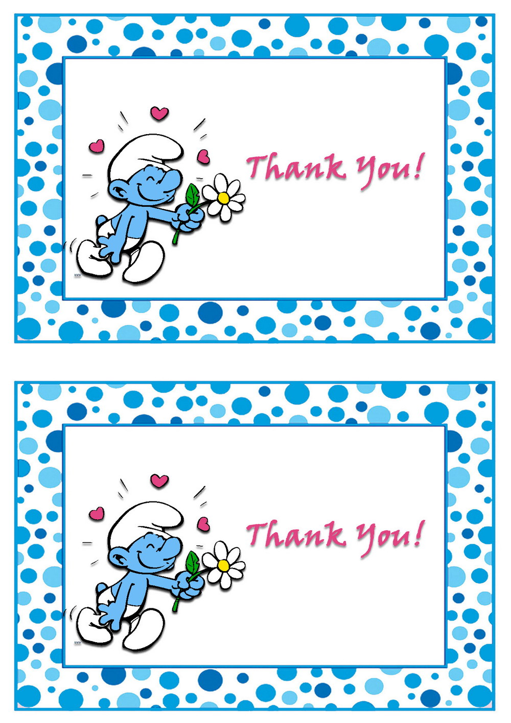 Smurfs Invitation Cards is awesome invitations layout