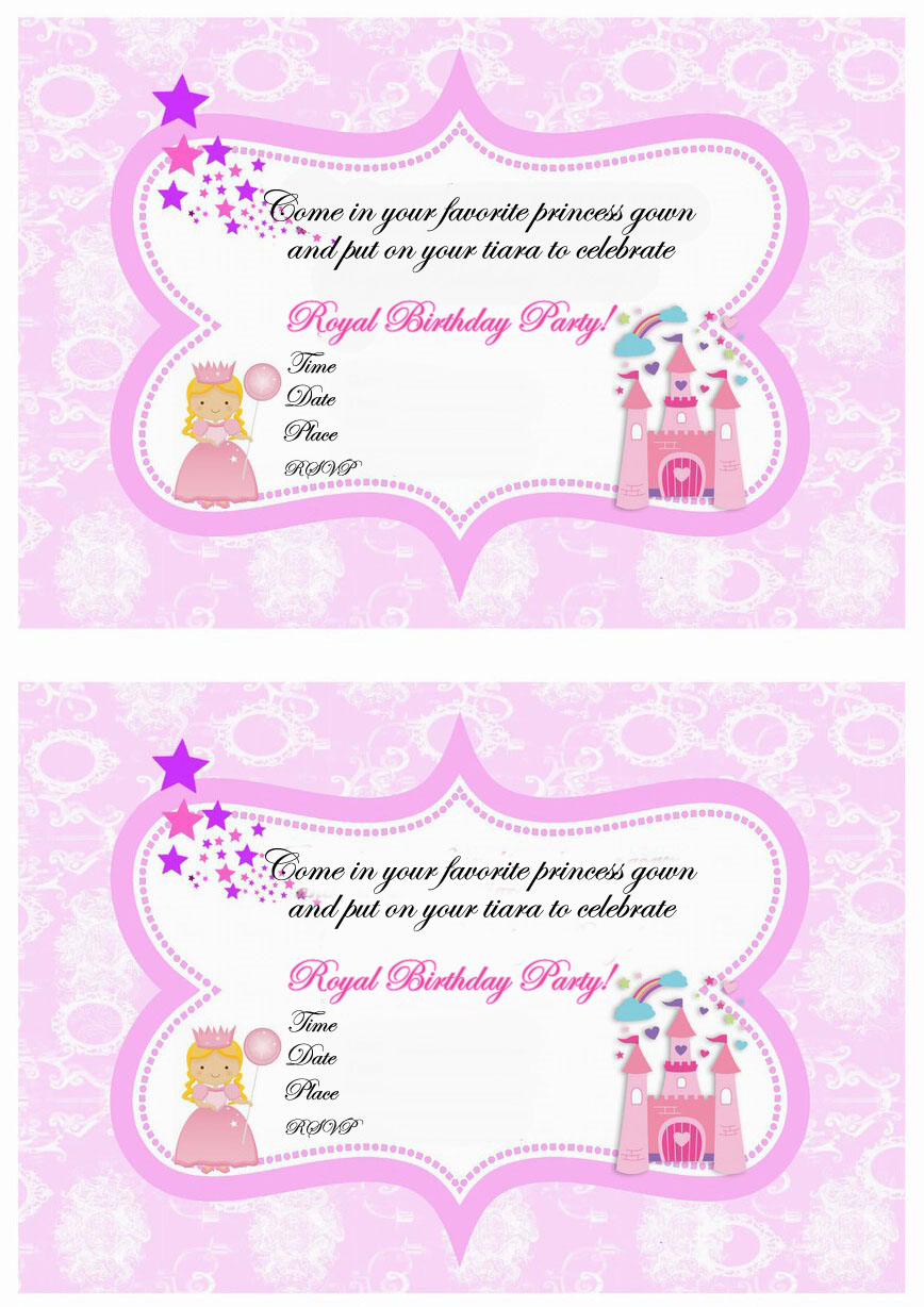 Princess Birthday Invitations Birthday Printable