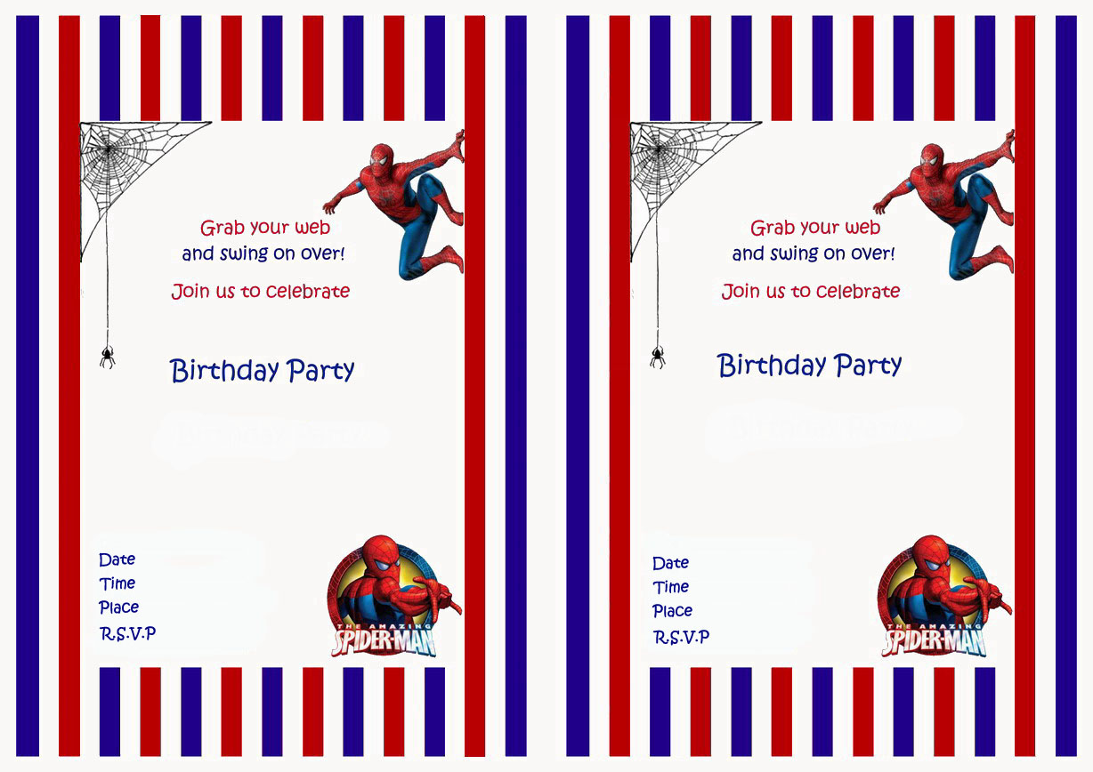 Spiderman birthday invitations birthday printable save stopboris Choice Image