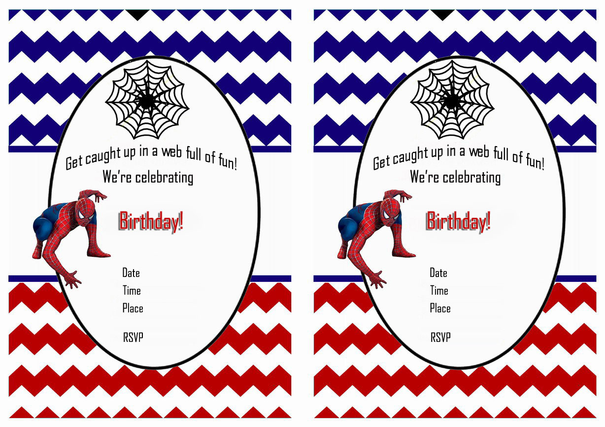 spiderman birthday invitations birthday printable spiderman birthday invitations