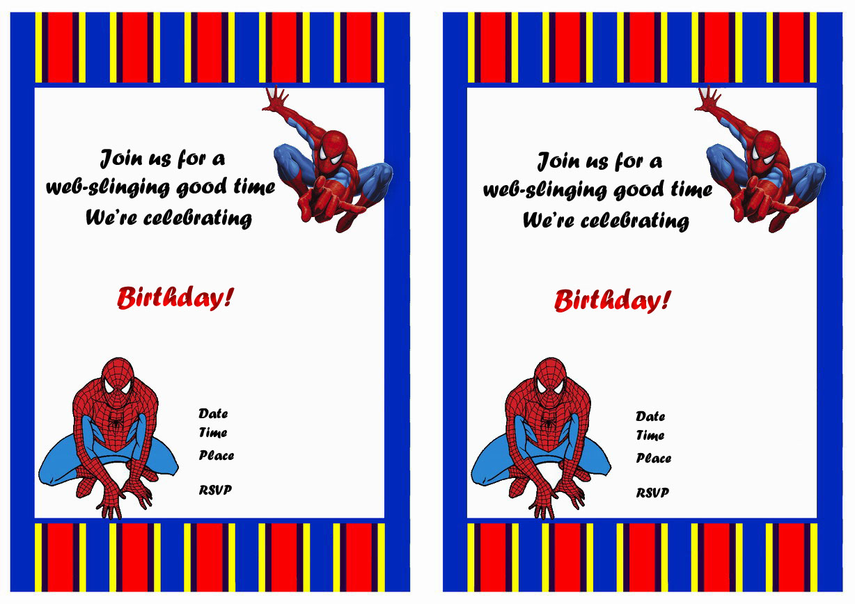 Spiderman Birthday Invitations u2013 Birthday Printable