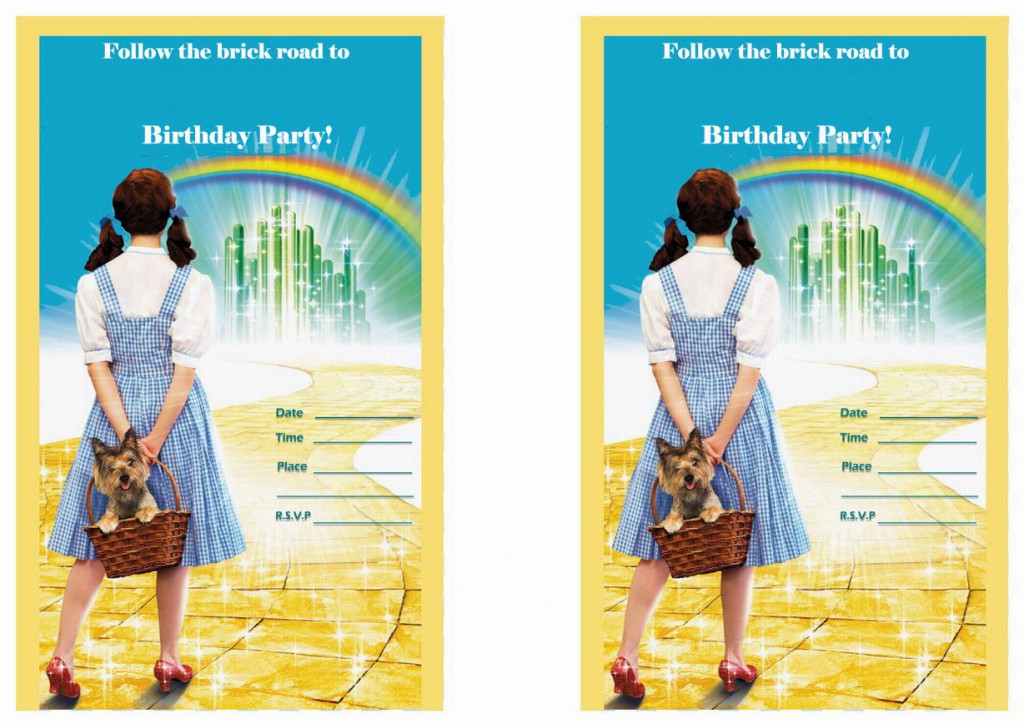 Wizard of Oz Birthday Invitations