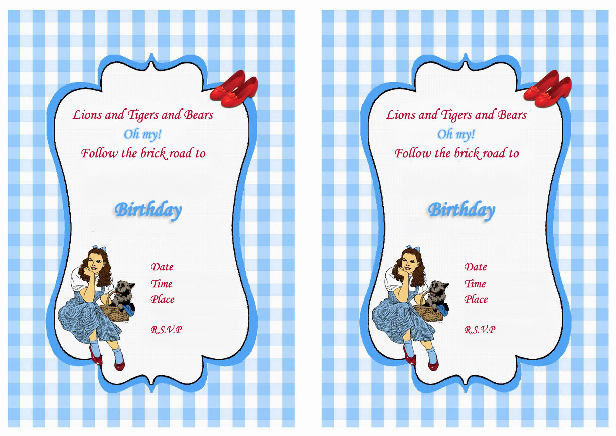 Wizard of Oz Birthday Invitations – Birthday Printable