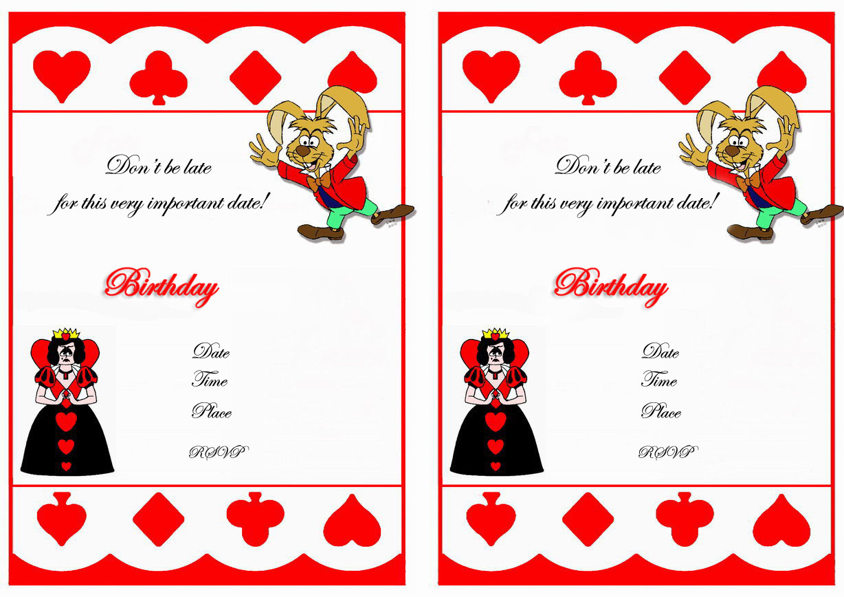 alice in wonderland birthday invitations  u2013 birthday printable