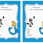 Alice in Wonderland Birthday Invitations