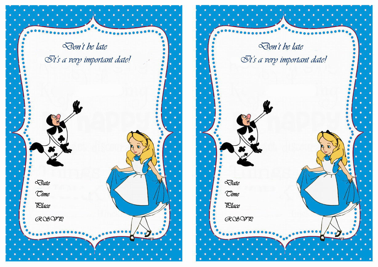 Alice in Wonderland Birthday Invitations – Birthday Printable