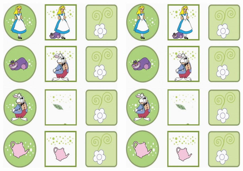 Alice in Wonderland Stickers | Birthday Printable