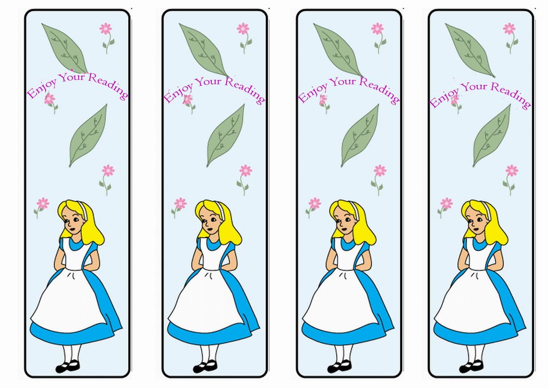 free printable bookmarks alice in wonderland