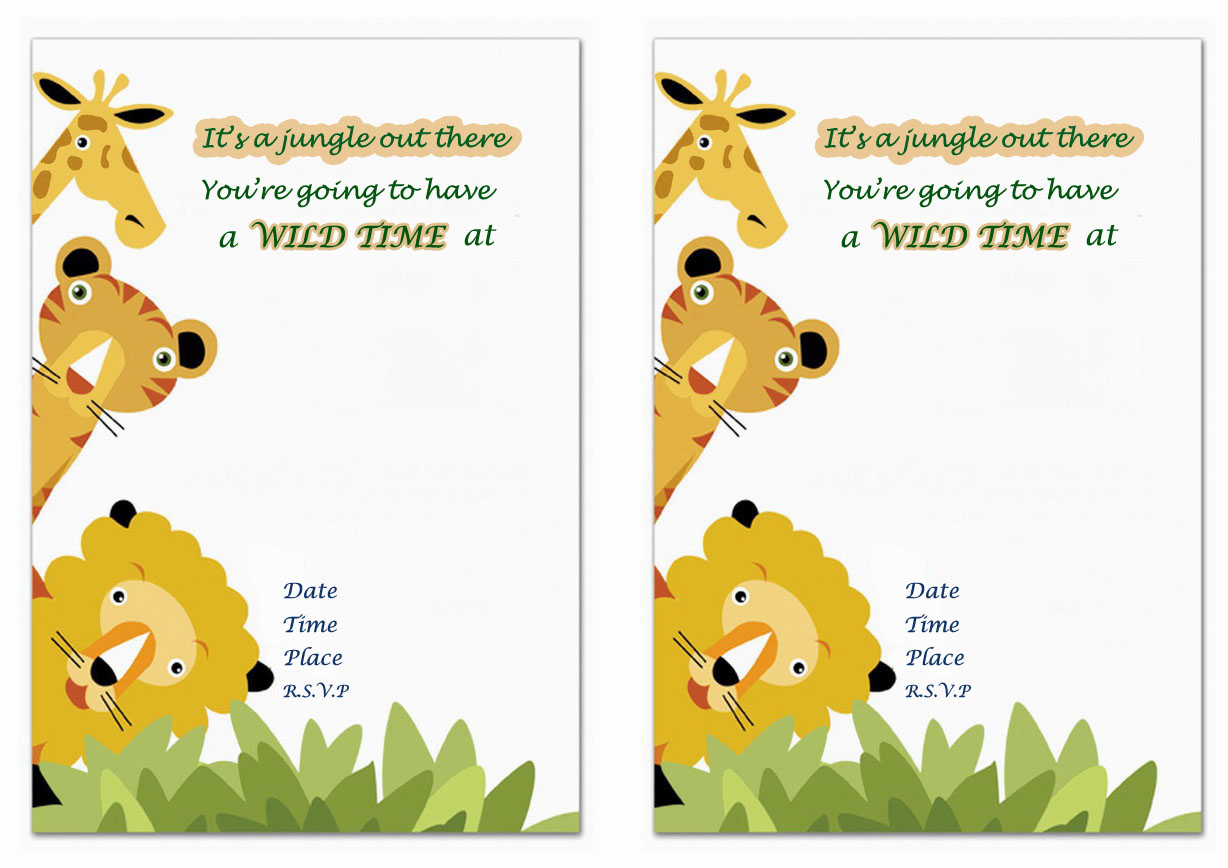Animals Birthday Invitations Birthday Printable