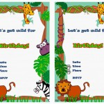Animals Birthday Invitations