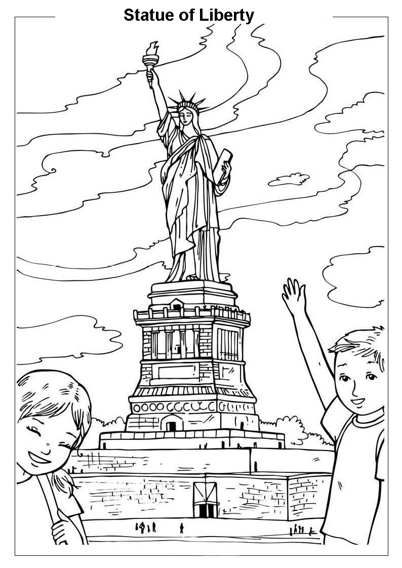 Around the World Coloring Pages Birthday Printable