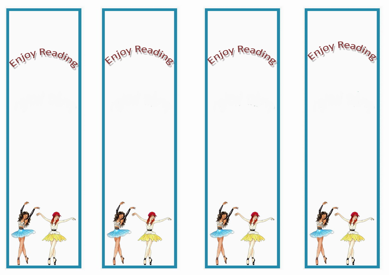 Ballet Bookmarks Birthday Printable