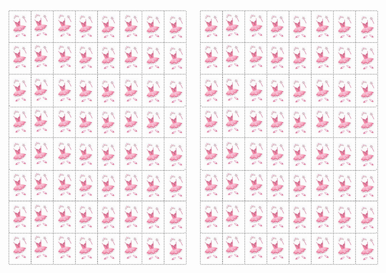 Ballet Stickers Birthday Printable