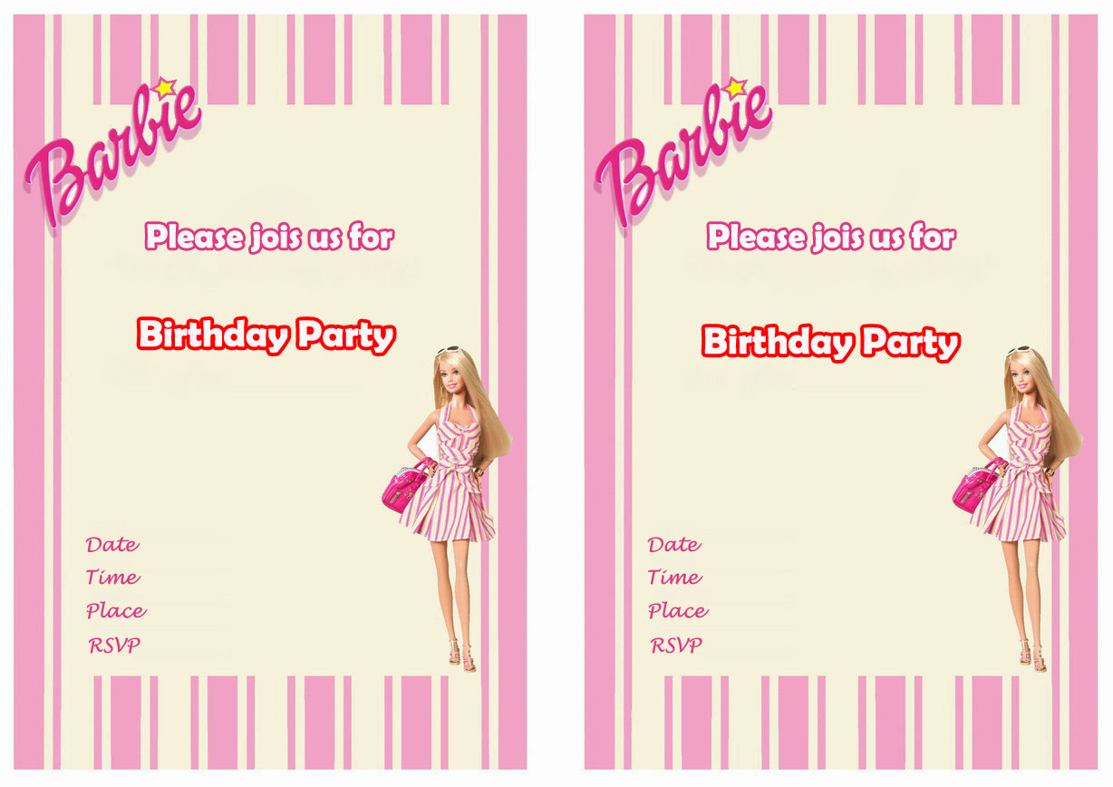 Barbie Birthday Invitations – Birthday Printable