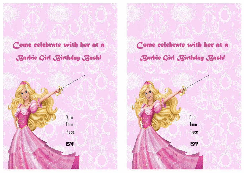 Barbie Birthday Invitations – Birthday Printable
