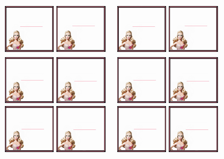 Barbie Name Tags Birthday Printable