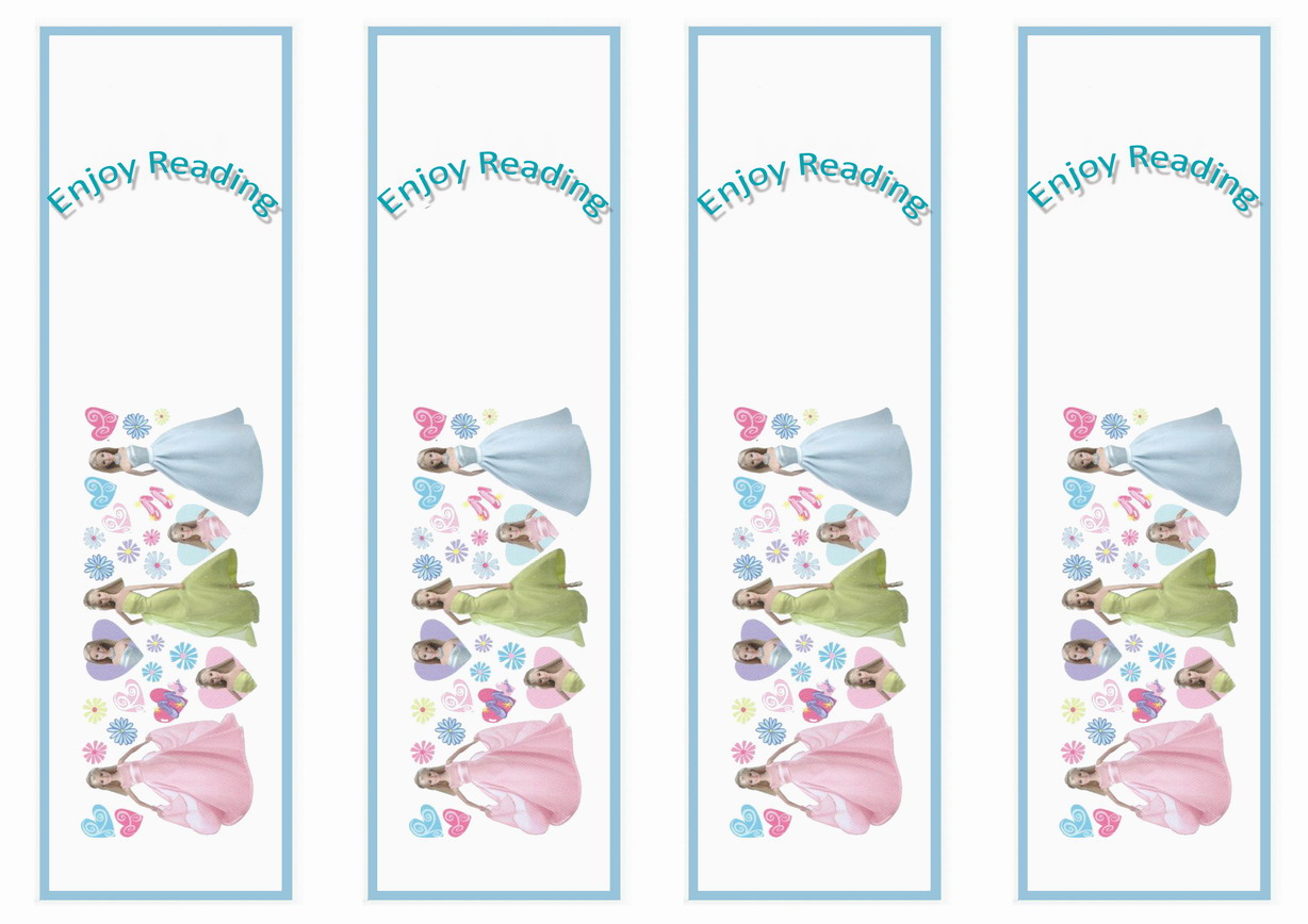 Barbie Bookmarks Birthday Printable
