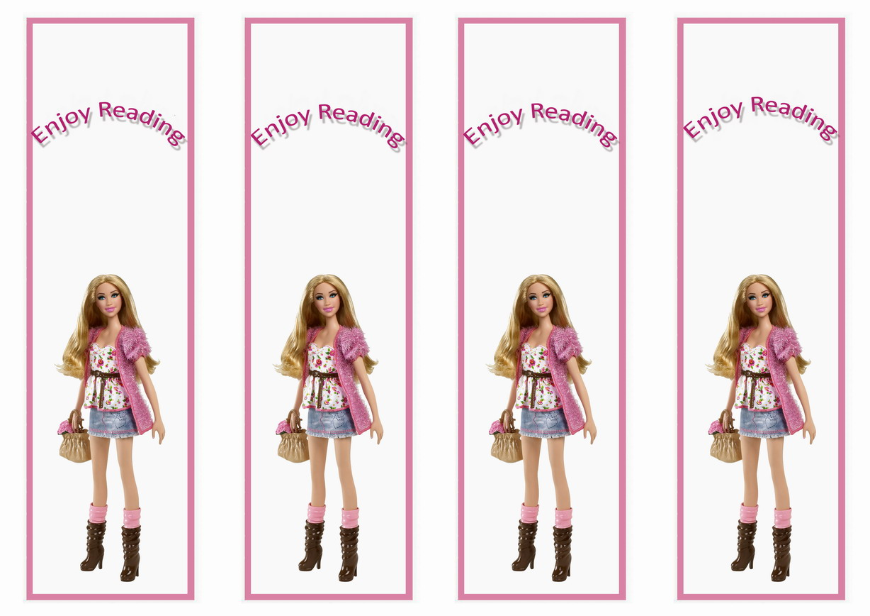 Barbie Bookmarks Birthday Printable