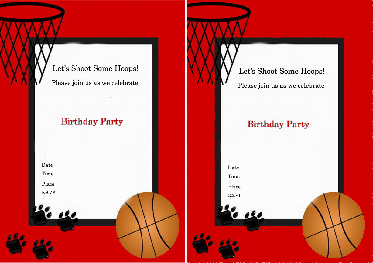 Basketball Birthday Invitations Birthday Printable – Basketball Birthday Invitations