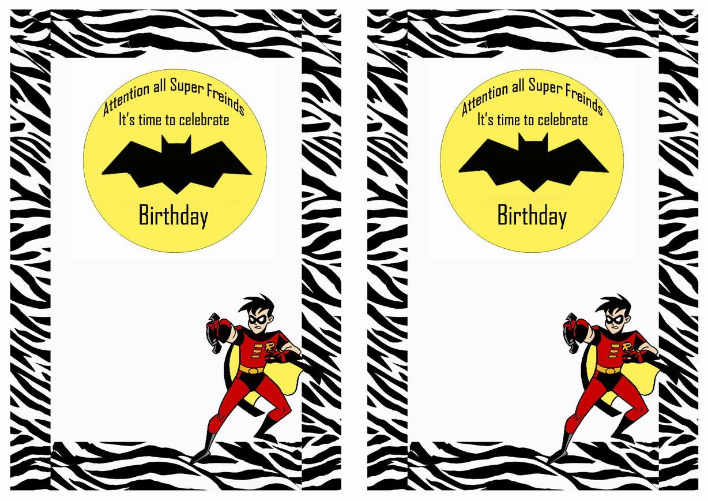 Batman Birthday Invitations – Birthday Printable