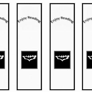 Batman Bookmarks Birthday Printable