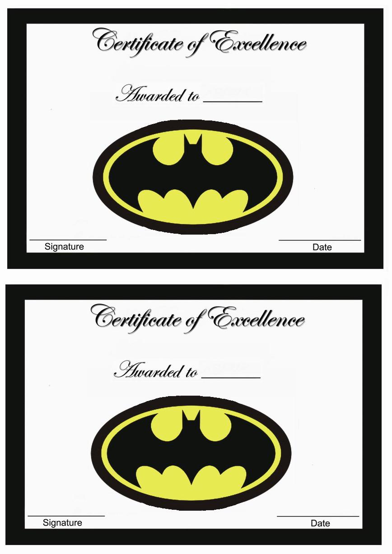 Batman Awards - Birthday Printable