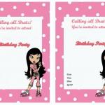 Bratz Birthday Invitations