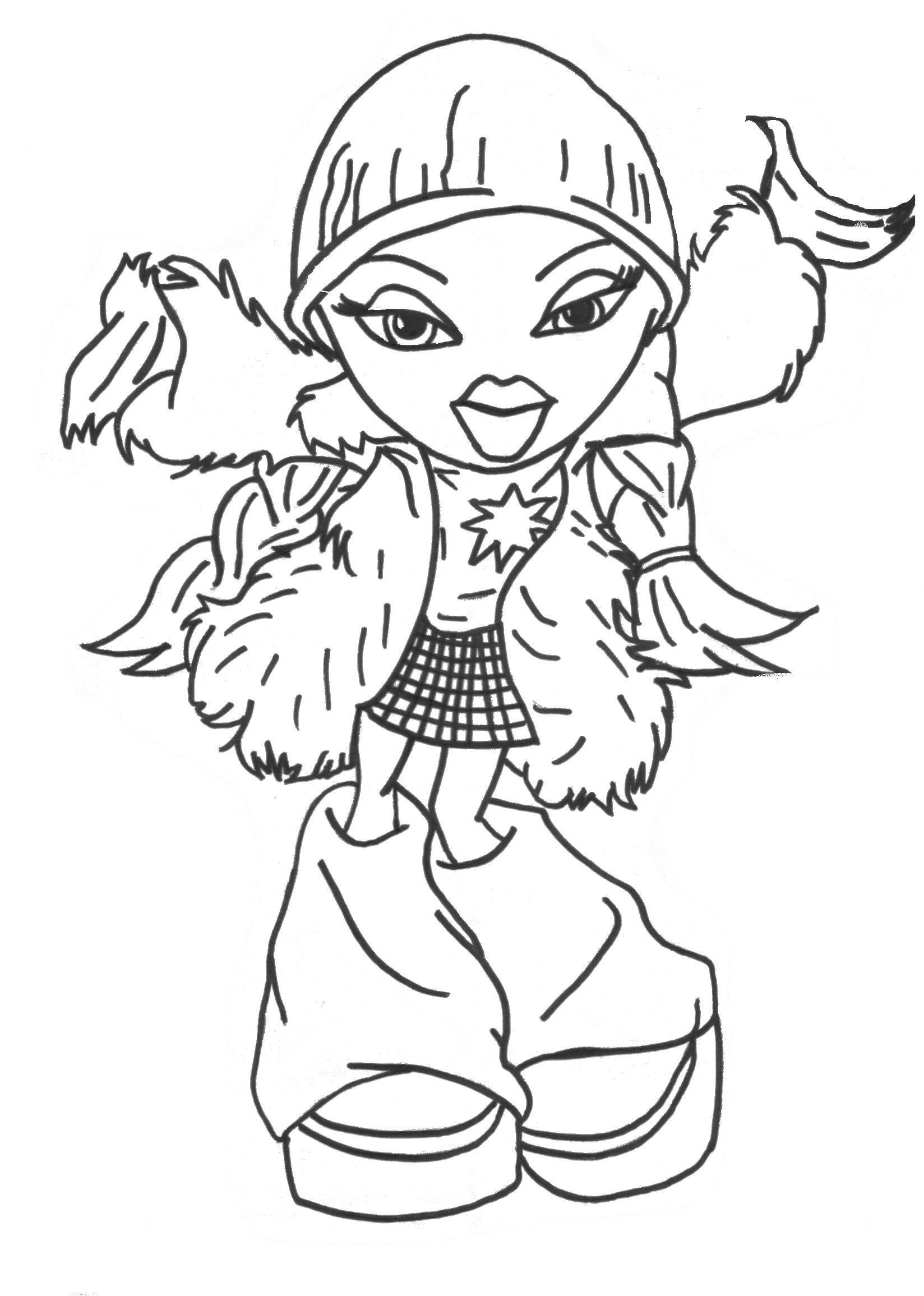 Bratz Coloring Pages Birthday Printable