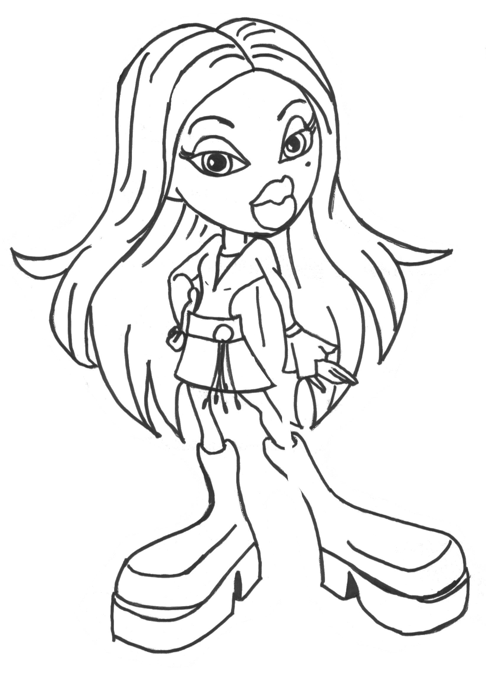 Bratz Coloring Pages Birthday