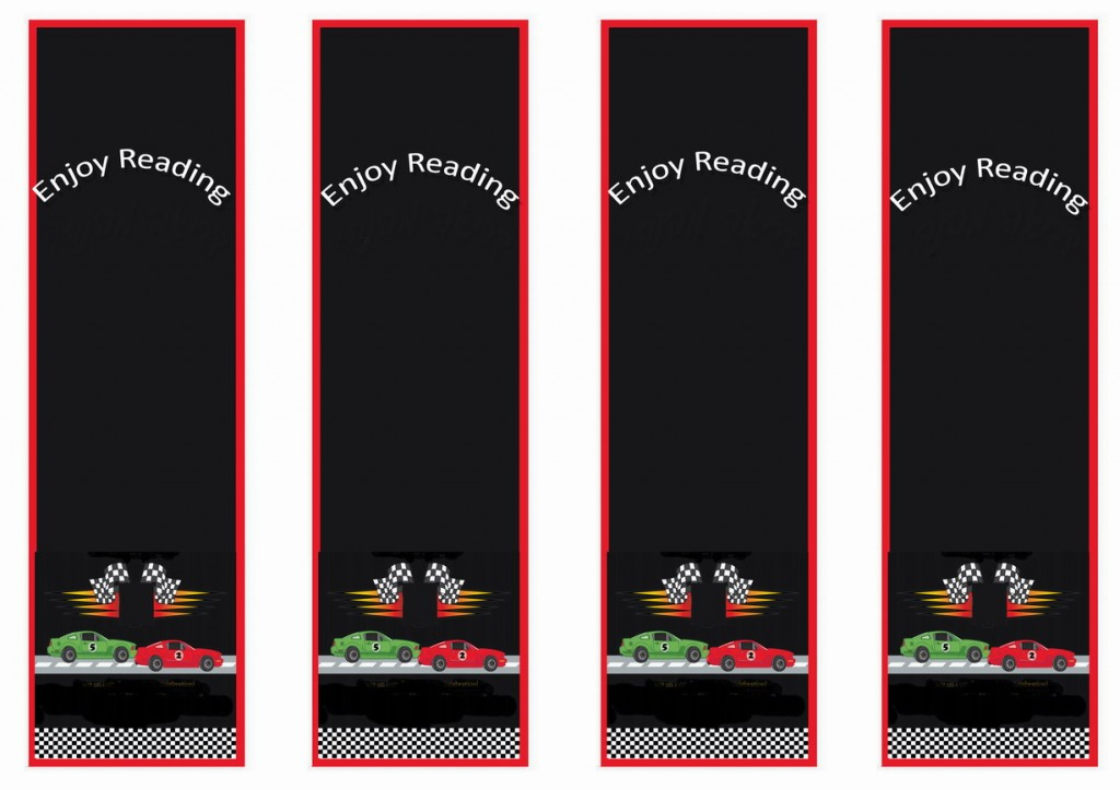 Cars Bookmarks Birthday Printable