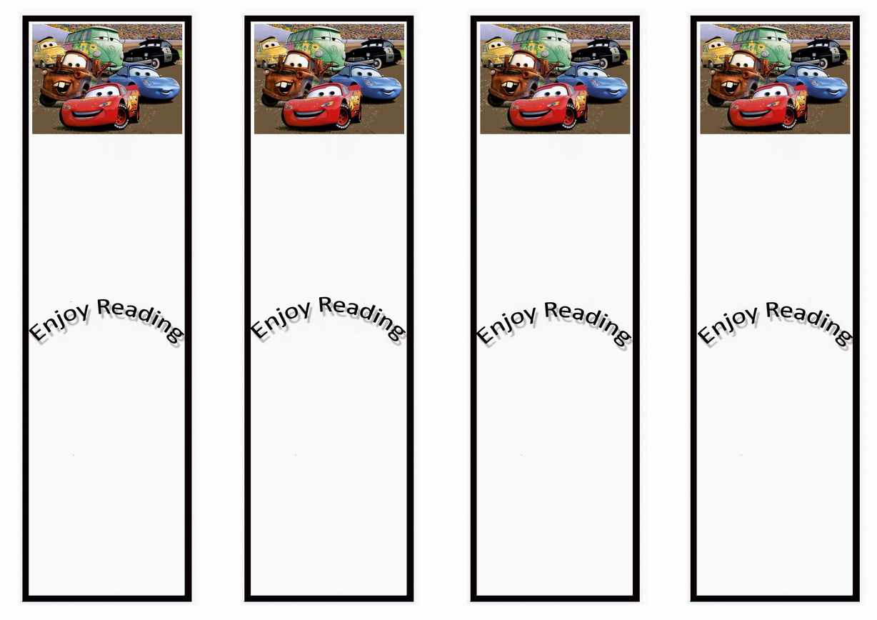 Cars Bookmarks | Birthday Printable