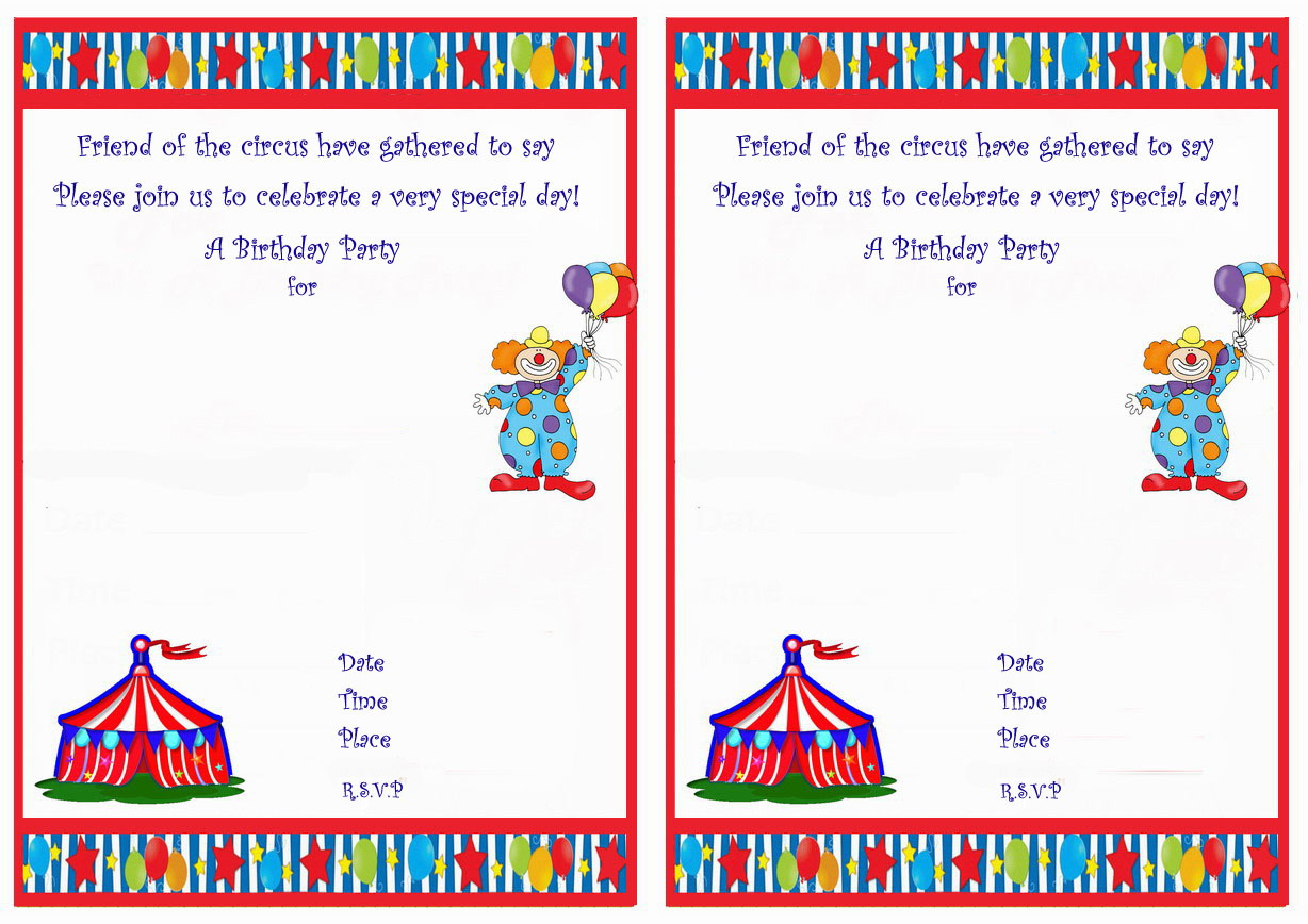 circus birthday invitations  birthday printable, Birthday invitations